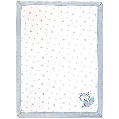 Wendy Bellissimo Fox 'I Love You' Plush Baby Blanket