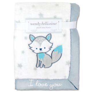 "Wendy Bellissimo Fox ""I Love You"" Plush Baby Blanket"