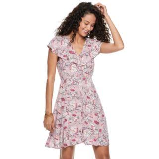 Juniors' American Rag Ruffled Floral Fit & Flare Dress