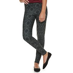 Juniors' Mudd® High-Waisted Geometric Ponte Leggings