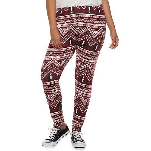 Juniors' Plus Size SO® Hatchi Holiday Leggings