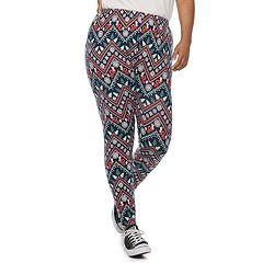 8158d8dc8c0f4c Juniors' Plus Size SO® Hatchi Holiday Leggings