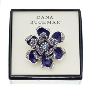 Dana Buchman Purple Simulated Crystal Flower Pin