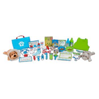 Melissa & Doug Deluxe Pet Vet - Care & Grooming Play Set