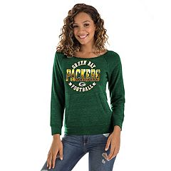 Women's New Era Green Bay Packers Triblend Sweatshirt