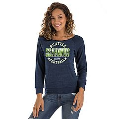 Women's New Era Seattle Seahawks Triblend Sweatshirt