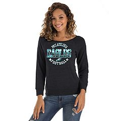 Women's New Era Philadelphia Eagles Triblend Sweatshirt