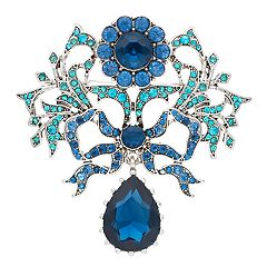 Dana Buchman Blue Simulated Crystal Ribbon Pin