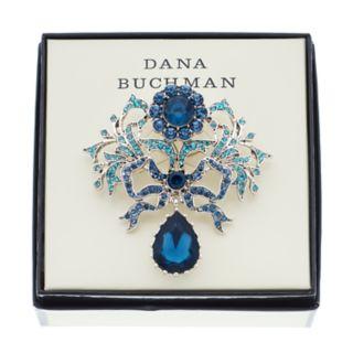 Dana Buchman Blue Simulated Crystal Ribbon Pin