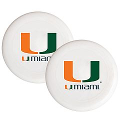 Miami Hurricanes 2-Pack Flying Disc Set