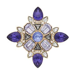 Dana Buchman Purple Simulated Crystal Pin