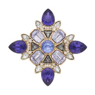 Dana Buchman Purple Simulated Crystal Pin