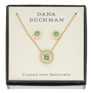 Dana Buchman Crystal Circle Pendant & Stud Earring Set
