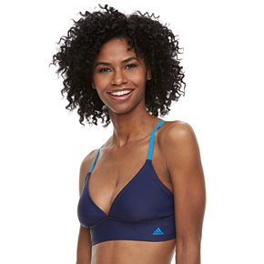 Women's adidas Solid Crisscross Triangle Bikini Top