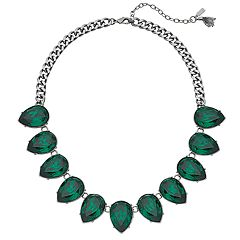 Simply Vera Vera Wang Green Simulated Crystal Teardrop Necklace