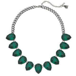 Simply Vera Vera Wang Green Simulated Crystal Teardrop Necklace