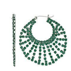 Simply Vera Vera Wang Green Stone Hoop Earrings