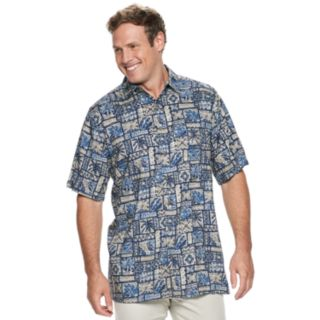 Big & Tall Batik Bay Tropical Button-Down Shirt