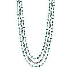 Simply Vera Vera Wang Green Stone Layered Necklace