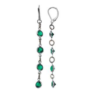 Simply Vera Vera Wang Green Stone Linear Earrings