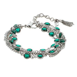 Simply Vera Vera Wang Green Stone Layered Bracelet