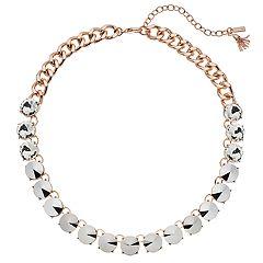 Simply Vera Vera Wang  Simulated Crystal Collar Necklace