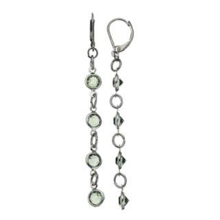 Simply Vera Vera Wang Light Green Stone Linear Earrings