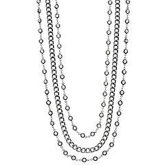 Simply Vera Vera Wang Gray Stone Multi-Strand Necklace