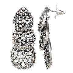 Simply Vera Vera Wang Filigree Linear Earrings
