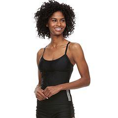 Women's adidas Solid Tie-Back Tankini Top