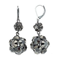 Simply Vera Vera Wang Jet Double-Drop Earrings