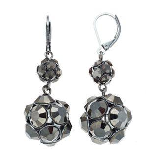 Simply Vera Vera Wang Jet Double-Drop Earrings