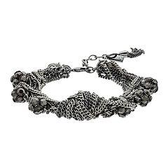 Simply Vera Vera Wang Fireball & Chain Multi Row Bracelet
