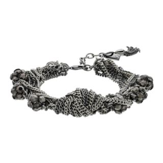 Simply Vera Vera Wang Fireball & Chain Multi Row Bracelet