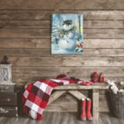 Artissimo Designs Berry Snowman Christmas Canvas Wall Art