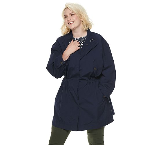 Plus Size POPSUGAR Drop-Shoulder Anorak Jacket