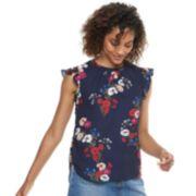 Women's POPSUGAR Print Ruffle-Sleeve Top