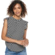Women's POPSUGAR Print Ruffle-Sleeve Top