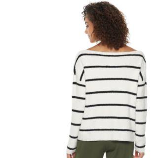 Women's POPSUGAR Striped Oversized Sweater