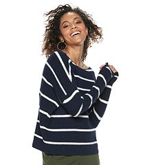 Women's POPSUGAR Striped Oversized Sweater