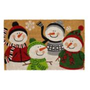 Mohawk® Home Dressed Up Snowmen Coir Doormat - 18'' x 30''