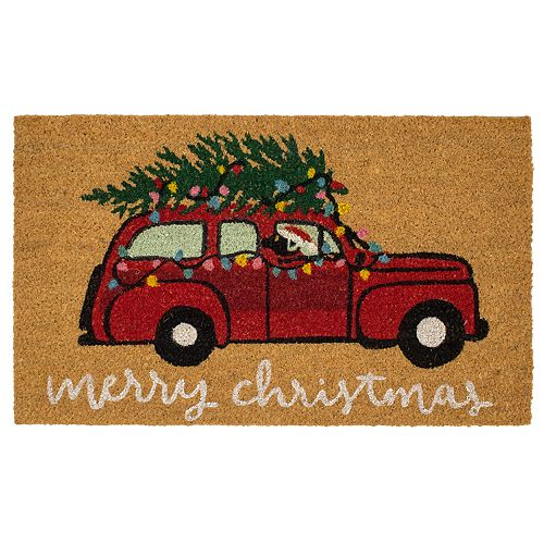 Mohawk® Home Merry Christmas Station Wagon Coir Doormat - 18'' x 30''