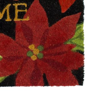 Mohawk® Home Overlapping Poinsettias Welcome Coir Doormat - 18'' x 30''