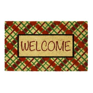 Mohawk® Home Holiday Plaid Welcome Coir Doormat - 18'' x 30''
