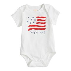 Baby Girl Jumping Beans® 'Happy 4th!' Americana Bodysuit