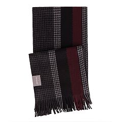 Men's Van Heusen Houndstooth Striped Raschel Scarf