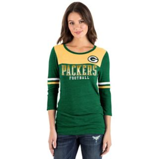 Women's New Era Green Bay Packers Varsity Tee