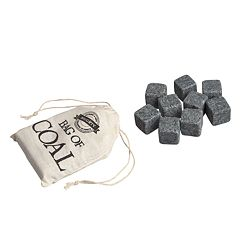 Wembley Christmas Bag Of Coal Whiskey Stones 10-piece Set