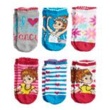 Disney's Fancy Nancy Girls 4-8 No-Show Socks