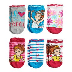 Disney's Fancy Nancy Girls 4-8 No-Show Socks